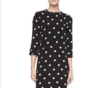 Kate Spade 3/4 sleeve dizzy dot dress size 10